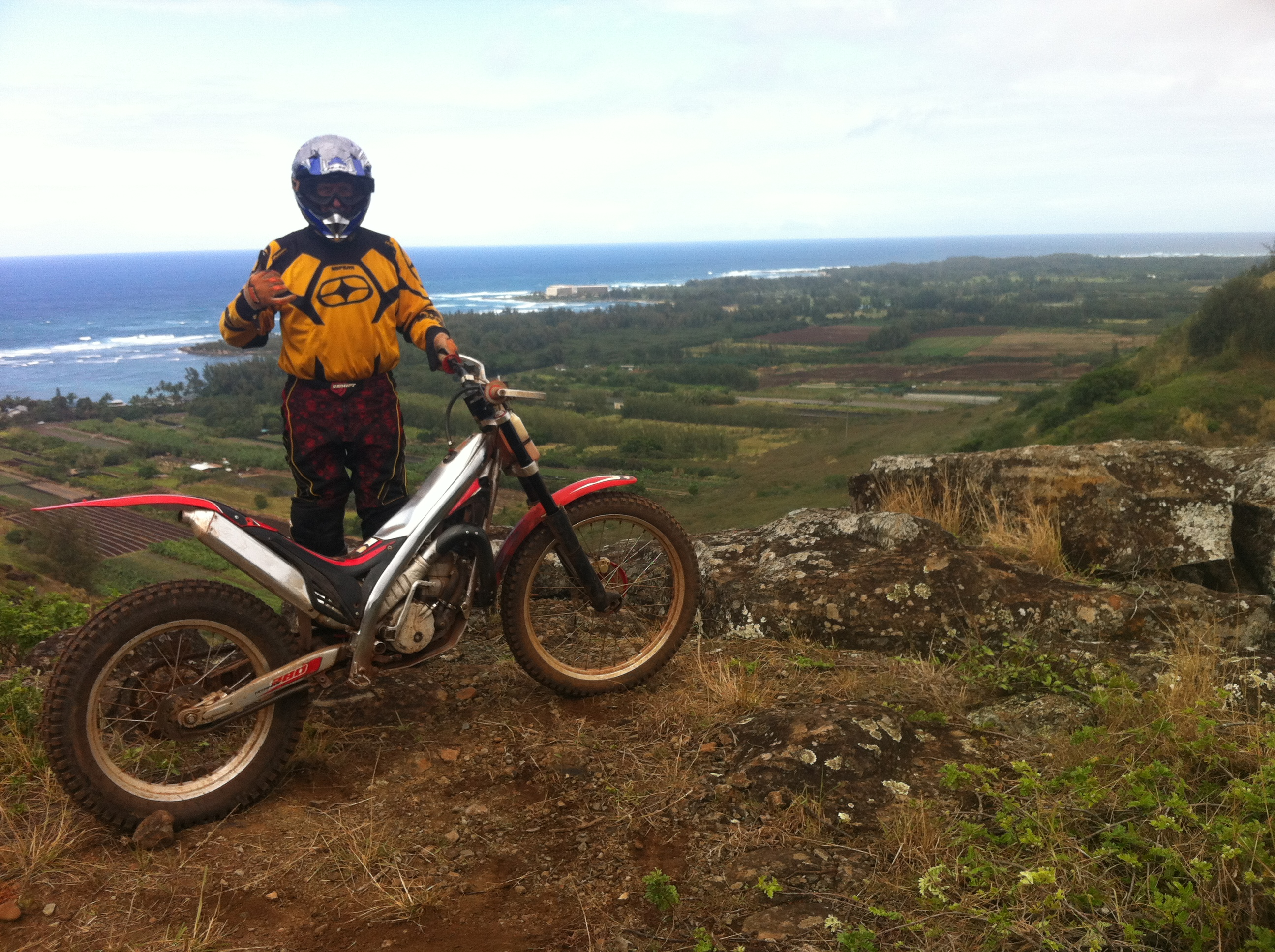 scenic dirtbike view